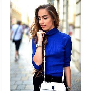 🛑2️⃣ royal blue turtleneck sweater